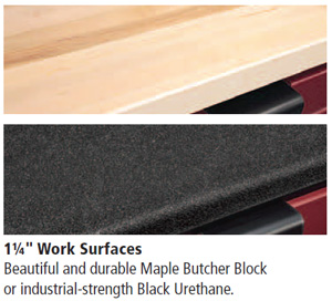 garage cabinet work surfaces